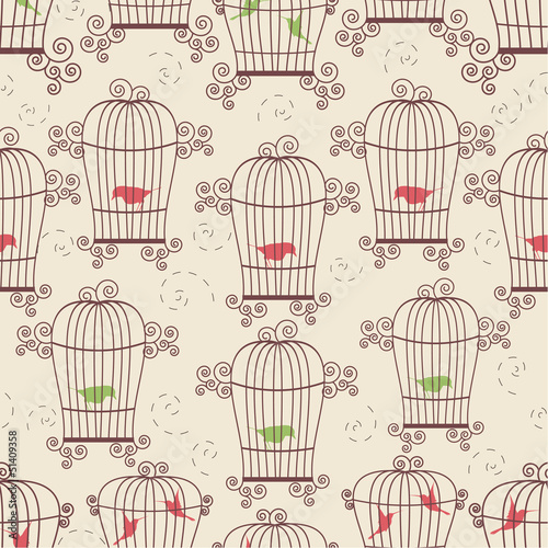 Acrylic Prints Birds in cages Birds in cages