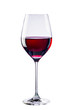 canvas print picture - Glass of red wine