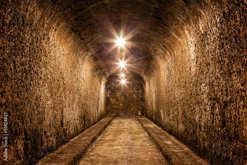 pasillo de una antigua bodega