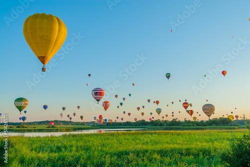 Fototapeta Mondial hot Air Ballon reunion in Lorraine France