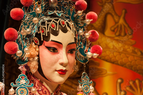 Deurstickers Peking Peking opera actress