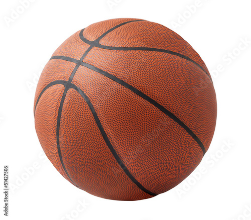 In de dag Bol Basketball isolated on a white background