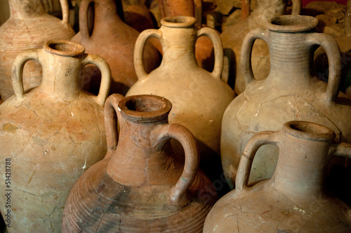 ancient Greek clay amphora Canvas Print