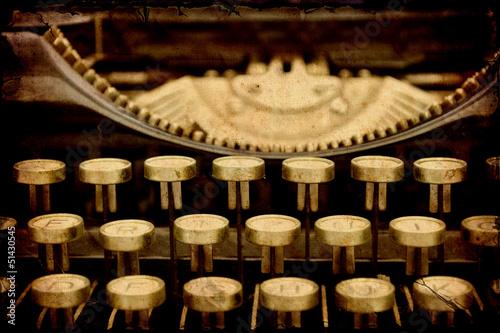 Foto op Plexiglas Vintage Poster Retroplakat - Mechanische Schreibmaschine