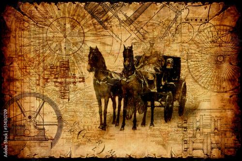 Foto op Plexiglas Vintage Poster Retroplakat - Fortbewegung