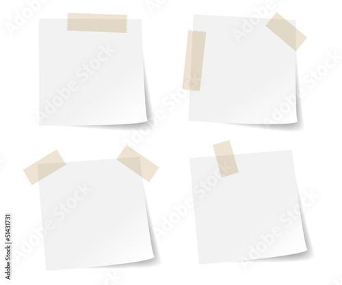 Valokuvatapetti White stick note paper