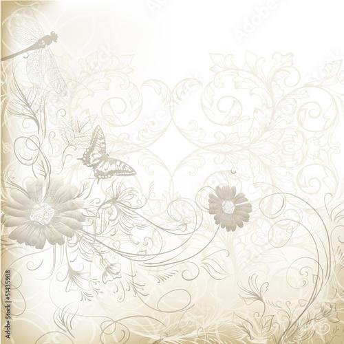eleganckie-jasne-tlo-wesele-z-kwiatowy-ornament