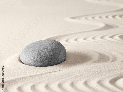 Foto op Plexiglas Stenen in het Zand japanese zen garden