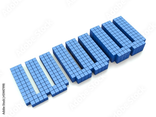 Foto op Aluminium Pixel WWW - blue internet symbol