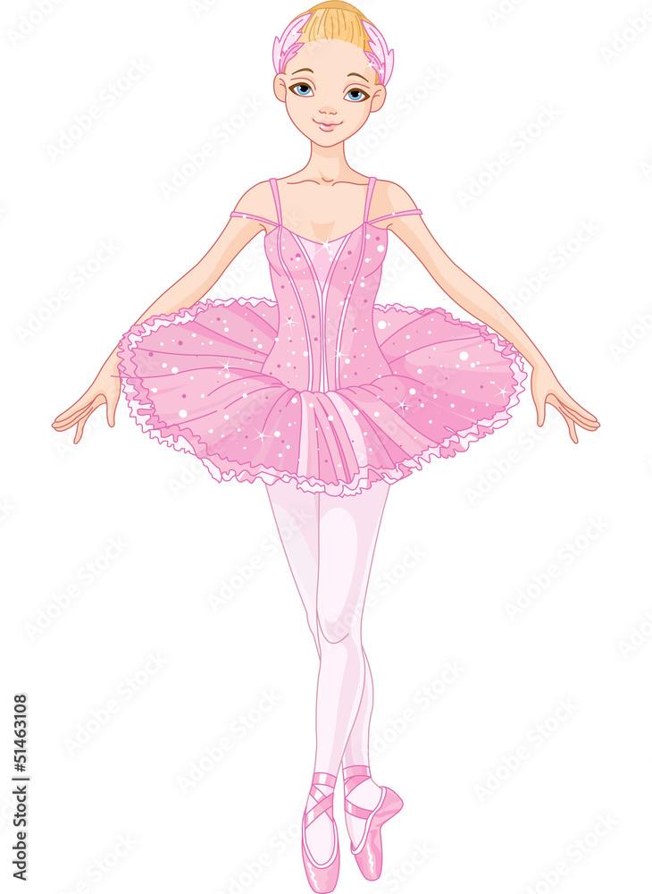 Foto-Lamellen (Lamellen ohne Schiene) - Pink  Ballerina