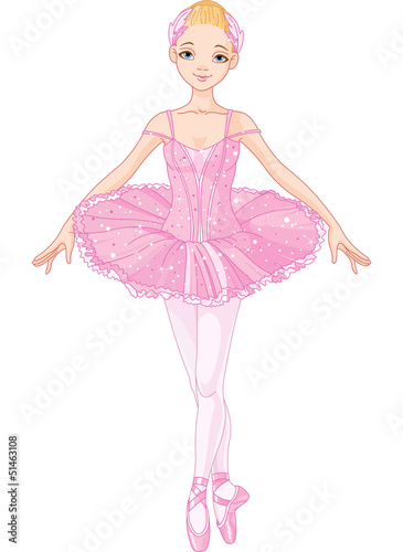 Foto-Stoff - Pink  Ballerina (von Anna Velichkovsky)