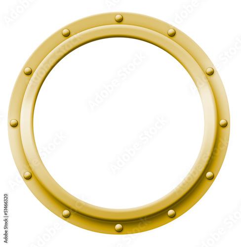 Obraz na plátně  Porthole Brass (Bullauge Messing)