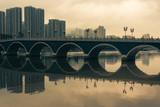 smog over Lek Yuen bridge in Sha Tin