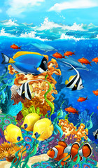 Obraz na płótnie Canvas The coral reef - illustration for the children
