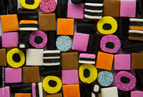 Photo Liquorice allsorts fill frame