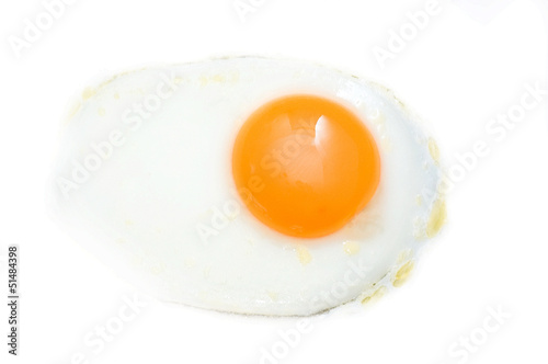 Foto op Plexiglas Gebakken Eieren Fried egg isolated on white background