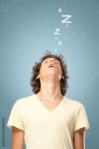 Valokuva  Man Fallen Asleep