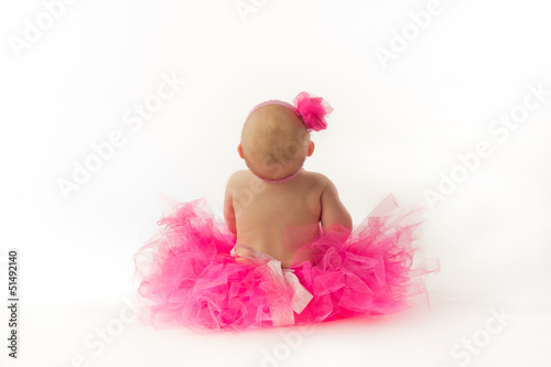 Fotografie, Obraz  Chubby Baby Ballerina From Behind