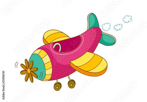 Fotobehang Vliegtuigen, ballon icon_airplane