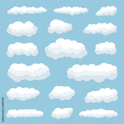 Printed kitchen splashbacks Heaven clouds
