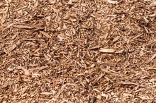 Closeup Of A Heap Of Woodchips...