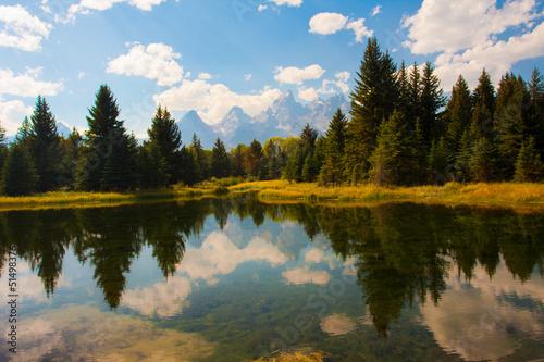 Poster de jardin Parc Naturel Teton Reflection in Grand Teton National Park
