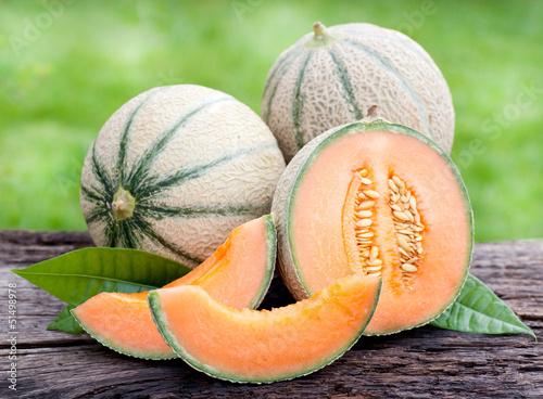 Billede på lærred Frische Melonen
