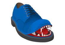 Angry Blue Shoe