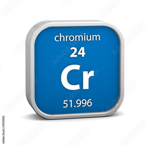 Fotografía  Chromium material sign