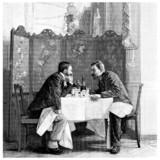 2 Men : Talking - end 19th century - 51517748