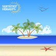 Summer Background - tropical island