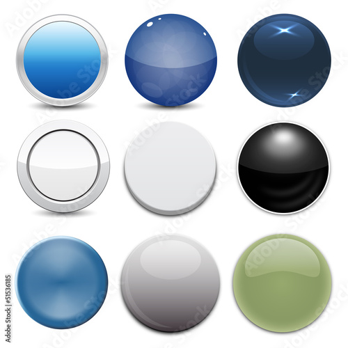 Poster  Set of 9 Button Styles