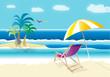 beach chair and sunny beach