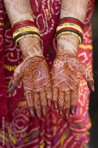 Bride Hands Henna Wedding Rajasthan India Buy This Stock Photo