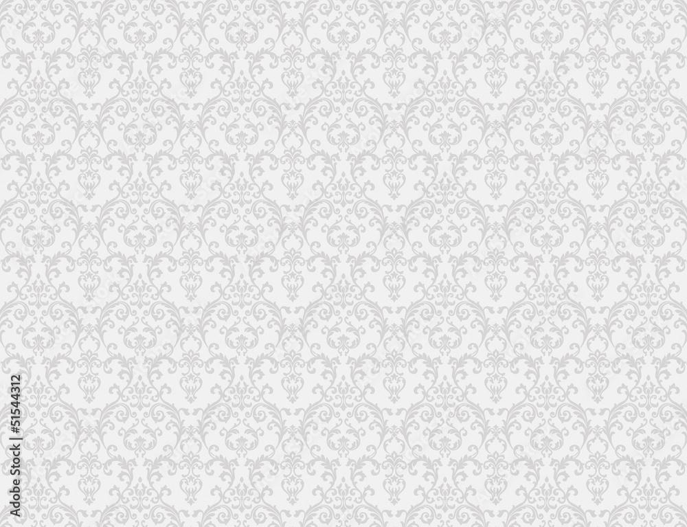 Fototapeta white floral pattern wallpaper