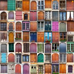 Fototapeta samoprzylepna porte e finestre collage