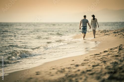 Fotografie, Obraz  passeggiata sulla spiaggia