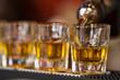 Shots drinks in cocktail nightclub