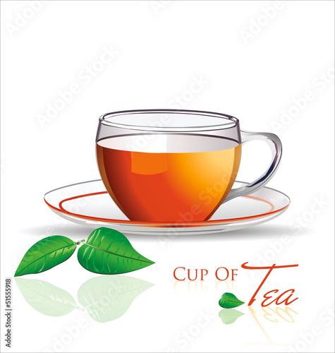 Staande foto Thee Tea background