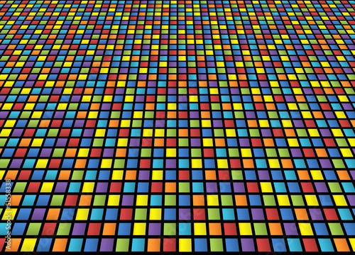 Kolorowe kratkę tło z zniekształcenia