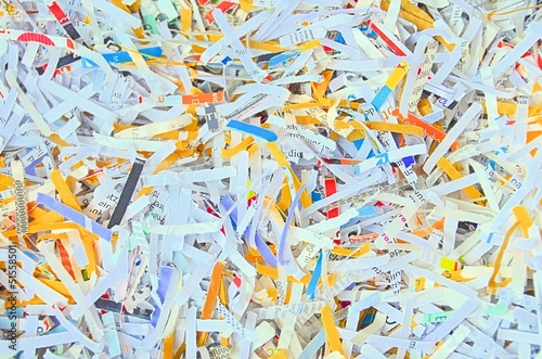 Valokuva  Papierstreifen aus dem Shredder