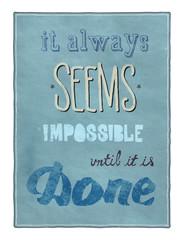 Fototapeta Motivational poster