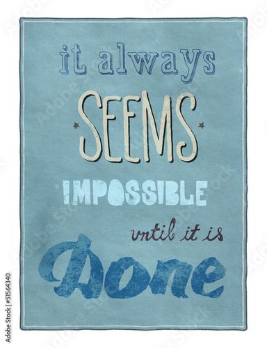 Poster Affiche vintage Motivational poster