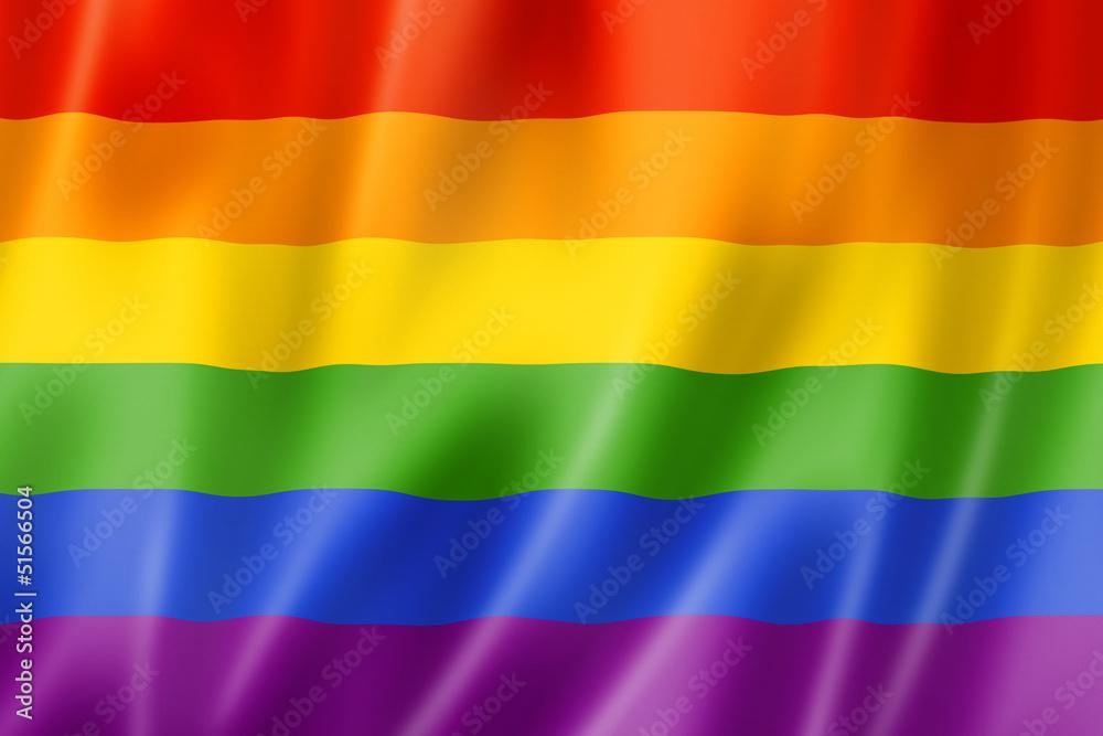 Fototapeta Rainbow gay pride flag