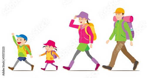 Fotografía  ハイキングへ行く家族