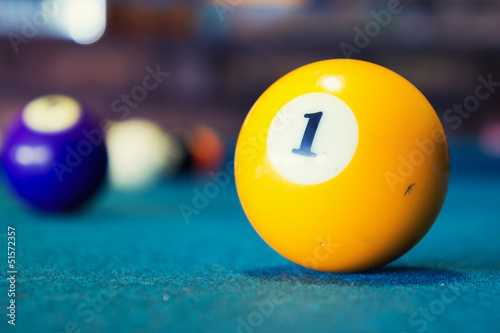 Fotografiet  Pool balls