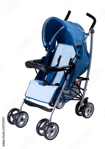 A modern pram isolated on white background Poster