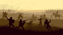 Abstract Illustration Of Medieval Battle.