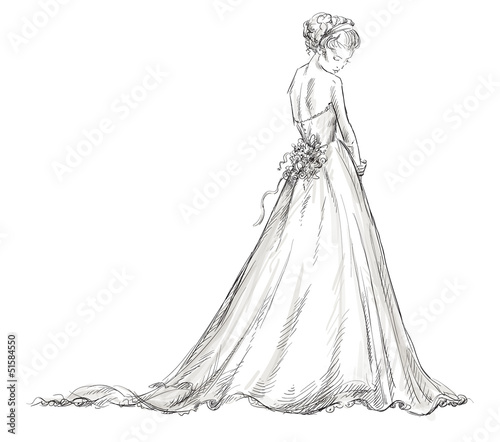 Fotografía  Bride. Beautiful young girl in a wedding dress.
