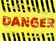 Danger warning sign, vector